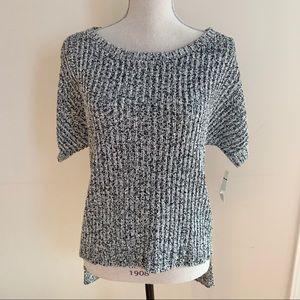 2/$20 NWT Rachel Roy Black & White Knit Sweater
